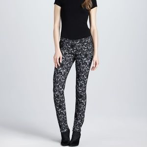 7 For All Mankind The Skinny Lace Jacquard Pants